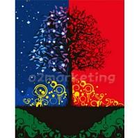 DIY 명화그리기 - DIY  축복의나무 (G346) 40x50 그림 (유화/그림그리기/직접그리기/아크릴/취미/색칠)
