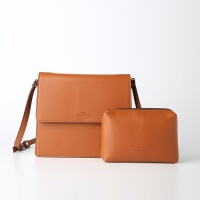 Trapezoid Cross Bag (Camel) - P007C_CM