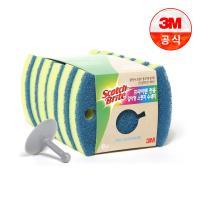 [3M]프라이팬 전용 스펀지 수세미 6입 (걸이포함)
