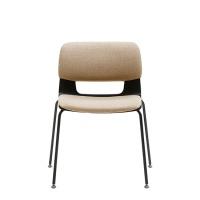 [시디즈]BUTTON(버튼) M801E_padding 블랙쉘 디자인의자(등좌판패딩_4LEG고정)