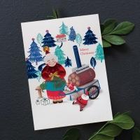 FS1029-4 크리스마스카드,트리,산타,성탄절