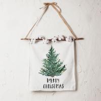 크리스마스 패브릭 포스터 목화 가랜더 메리 크리스마스