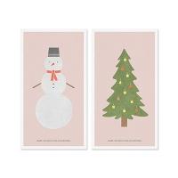 Winter card set_Pink
