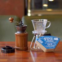 커피세콩 투명드립세트(투명+필터+유리서버+핸드밀)
