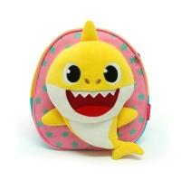 핑크퐁 아기상어 인형 미아방지배낭 핑크