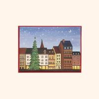 [일러스트 크리스마스카드] 06따뜻한 마을