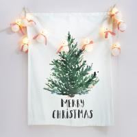 패브릭 포스터 메리 크리스마스 태피스트리 눈사람 전구 세트