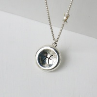 i_n32 - Zodiac concave coin necklace