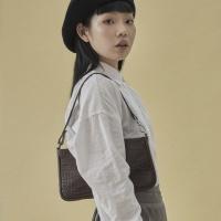 10/17[펀프롬펀]Jenny baguette bag_croc (brown)