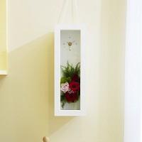 [시들지 않는 영원함 프리저브드 플라워] 화이트 러블리 핑크 시계 M
