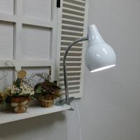 [LAMPDA]스프링 LED 집게 스탠드 (화이트)