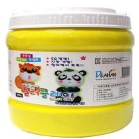 컬러 클레이 장난감 점토 노랑 대용량 500g