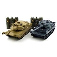 1/28 배틀탱크 세트 R/C TIGER vs M1A2 (YAK139000SET)