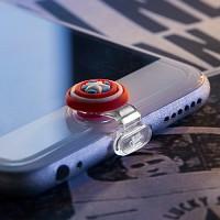 마블 라이트닝캡 캡틴아메리카 아이폰5-6 홈버튼