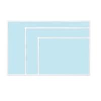 [두문] 더슬림자석보드 블루 345x275mm