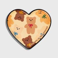 Dot ribbon bear-ivory(hearttoktok)