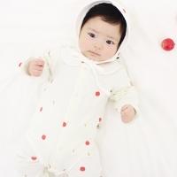 [메르베] 애쁘리 출산선물세트(바디슈트+모자)_사계절용
