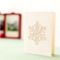 핸드메이드 크리스마스 카드 (패브릭)-눈꽃송이