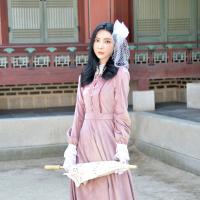 핑크 블러셔 경성의복 개화기 의상