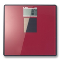 카스(CAS) 건전지가 필요없는 솔라 디지털 체중계 HE-S2-RED
