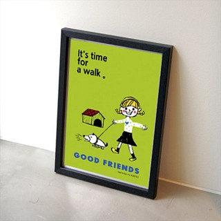 GOOD FRIENDS 포스터 - 라임그린
