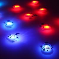 LED 플래시라이트 뱃지[눈사람]15개한팩
