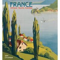 2019 캘린더 France: Vintage Travel Posters