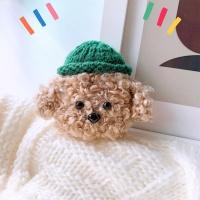 에어팟프로 강아지 인형 뜨개케이스_초록갈색 273/PRO
