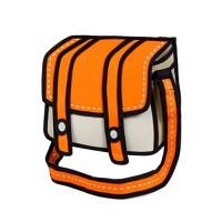 점프프롬페이퍼 Jump From Paper -Cheese 2D 가방 만화 가방 패션 가방 태블릿pc 수납