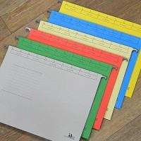 내용물 용량에 따라 조절하여 사용하는 문서 보관화일-행잉화일/A4-10매(팩) HB224
