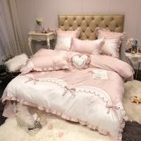 [클라모프] 하트 리본 침대커버 세트 Q