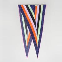 Silk Purple Diamond Scarf