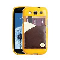 갤럭시S3용 England Leather 3Tones Cardcase 옐로우 (3G/LTE 선택)
