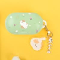 고양이 냥 냥이 패턴 갤럭시 버즈플러스 케이스+키링