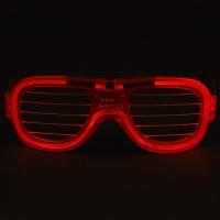 LED 와이어점등 셔터쉐이드안경 [레드]