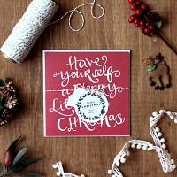 디비디 크리스마스 카드- Twinkle (Red)