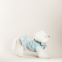 LINEN RIBBON DRESS_BABY BLUE