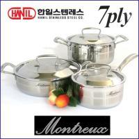 한일 몬트렉스(MONTREUX) 7PLY(7중구조)냄비 3종SET(16+20+24전)-백화점판매용