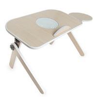 멀티노트북접이식테이블(쿨러형)-브라운