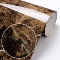 fp063-고광택 브라운 대리석 고급시트 _인테리어필름