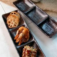 일본식기 마코토 세 칸 나눔찬기