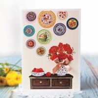 꽃 정물 카드 FT222-1