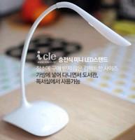 아이클 LED스탠드 JK-853/미니스탠드/휴대용스탠드/밝기조절/각도램프조절/눈부심방지