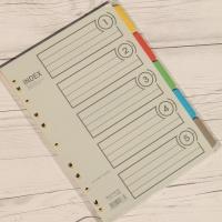 5분류x5세트/팩.. BiGPROS A4 종이 화일 인덱스지 i305