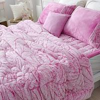 룩스(luxe) 극세사 침구(퀸3종)-핑크