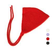 [디꾸보]요정 턱끈 니트 모자 AC246