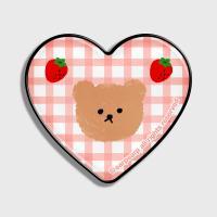 Dot strawberry check-pink(hearttoktok)