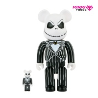 디즈니베어브릭 400%+100%BEARBRICK JACK SKELLINGTON