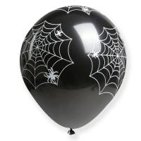 30cm 할로윈 풍선 (거미줄 블랙) - 50개입