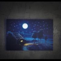 [LED 캔버스 조명액자] 별이 반짝이는 시골풍경